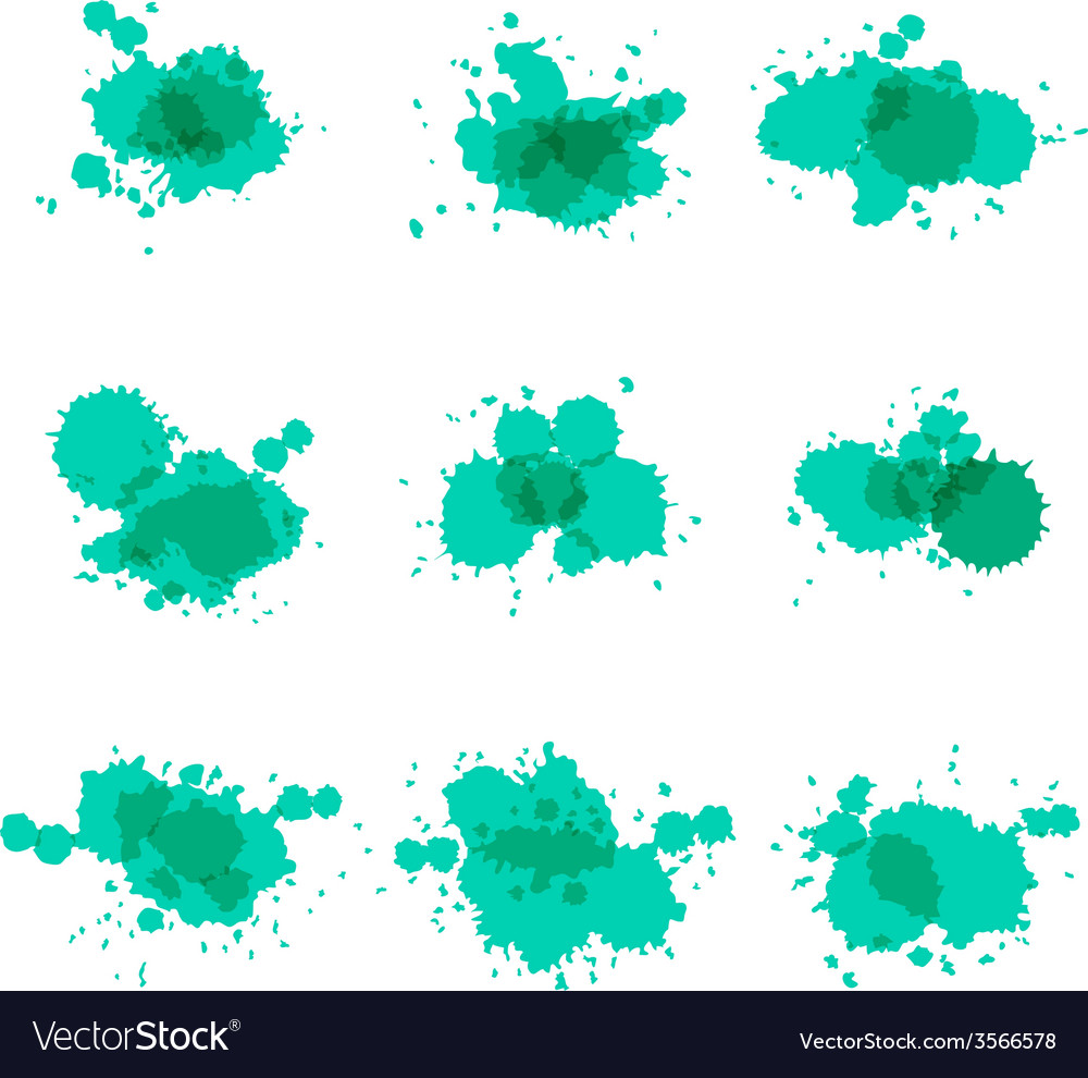 Watercolor hand painted circles set spot vector | Price: 1 Credit (USD $1)