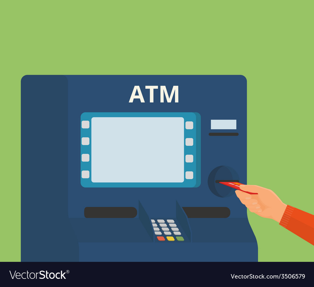 Access to atm machine vector | Price: 1 Credit (USD $1)