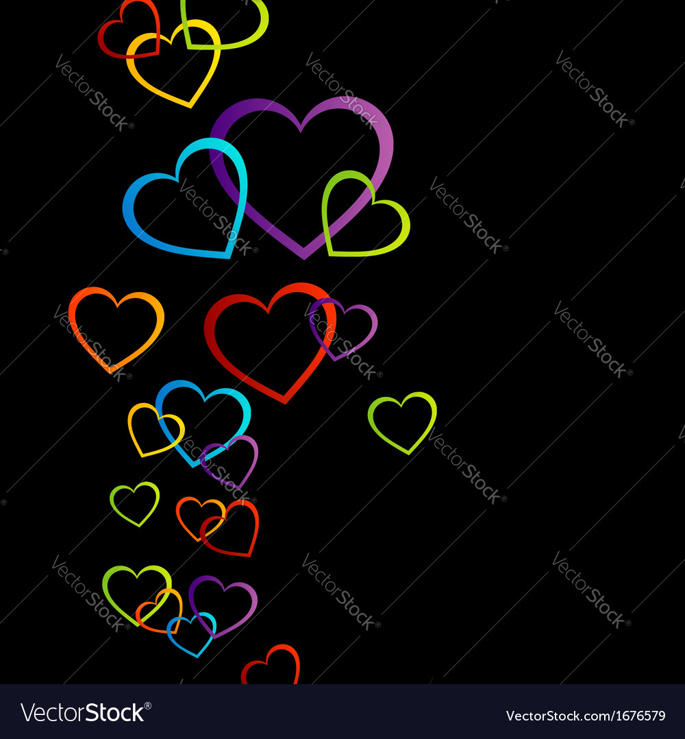 Background with colorful hearts vector   Price: 1 Credit (USD $1)