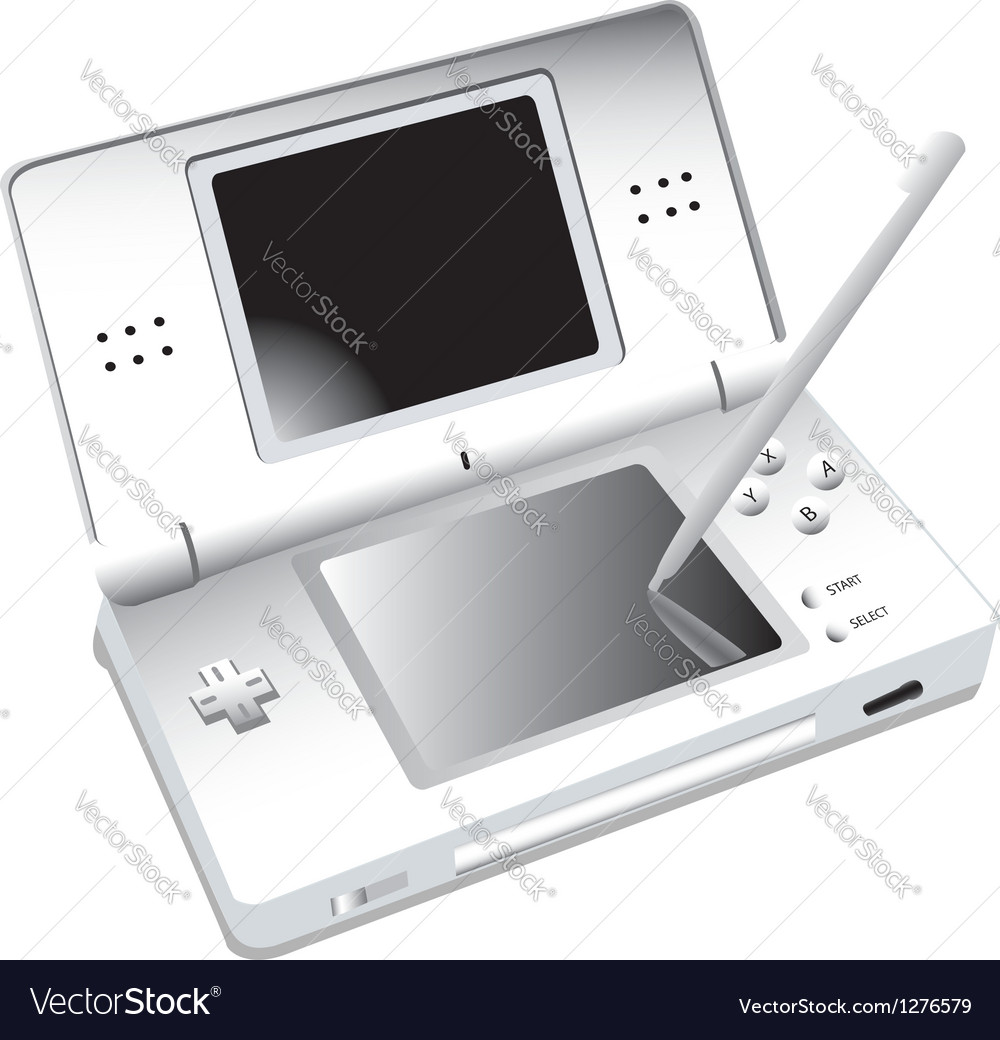 Ds portable gaming vector | Price: 1 Credit (USD $1)