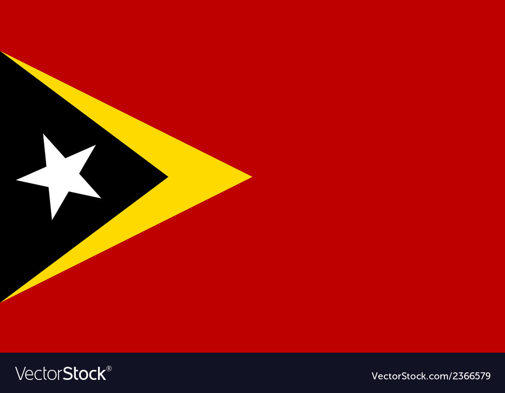 Flag of east timor vector | Price: 1 Credit (USD $1)