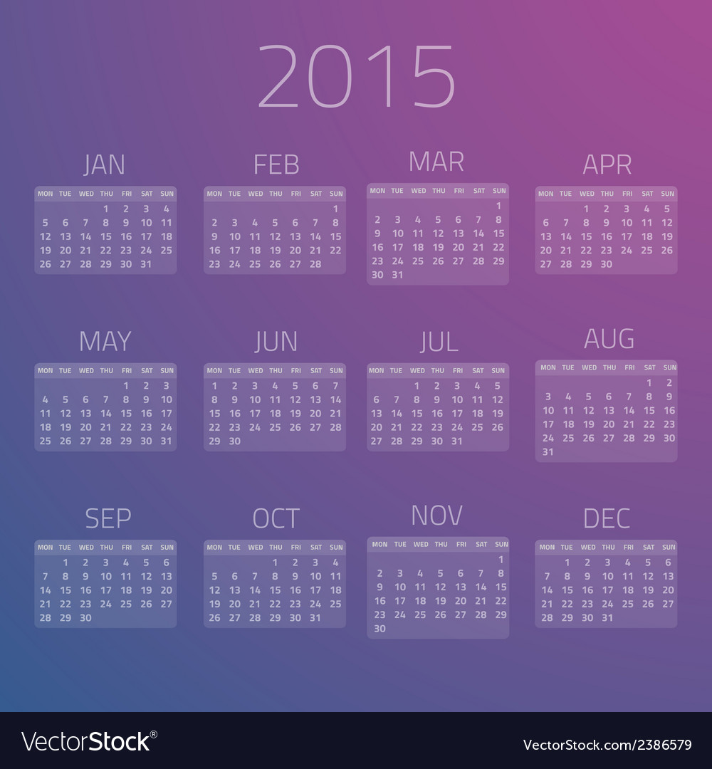 Gloss calendar 2015 background vector | Price: 1 Credit (USD $1)