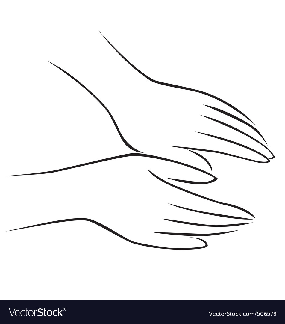 Hand massage vector | Price: 1 Credit (USD $1)