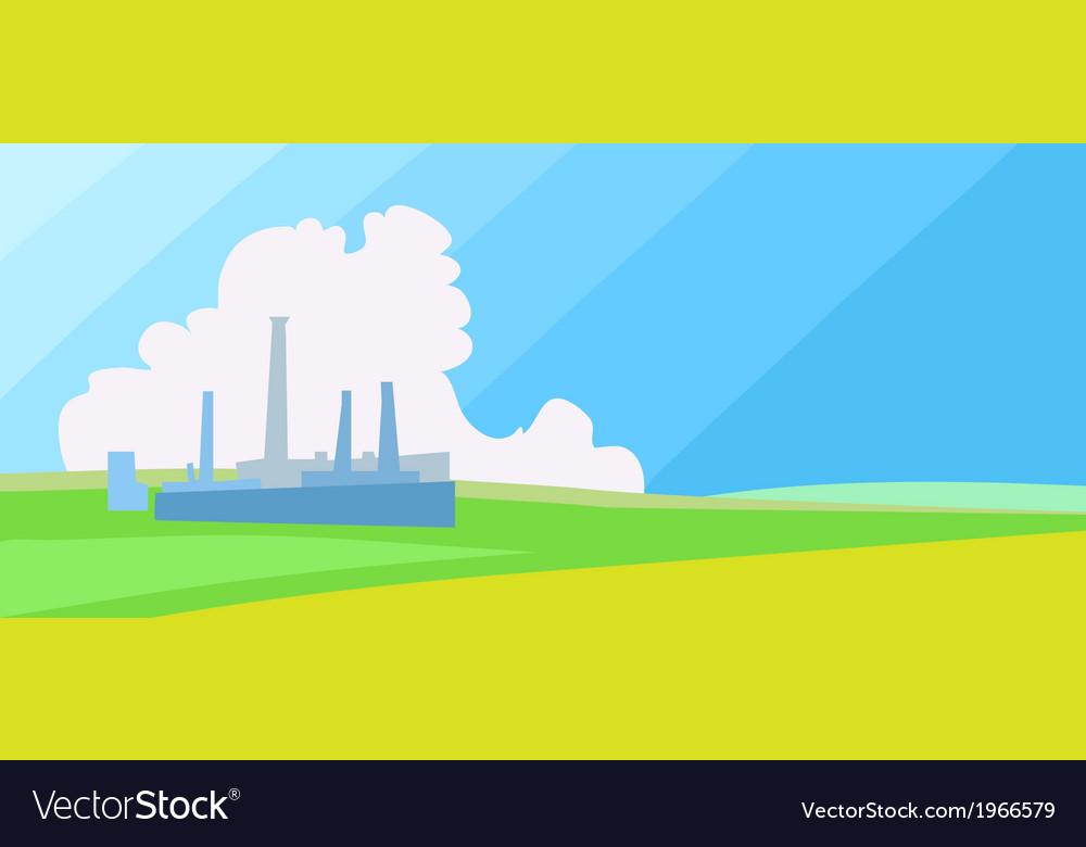 Horisontal factory landscape vector   Price: 1 Credit (USD $1)
