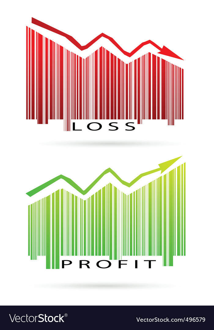 Profit and loss graph vector | Price: 1 Credit (USD $1)