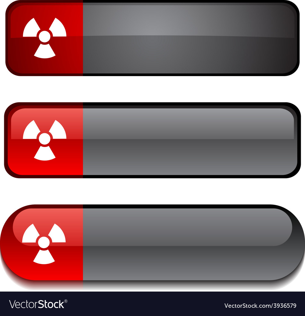 Radiation button set vector | Price: 1 Credit (USD $1)