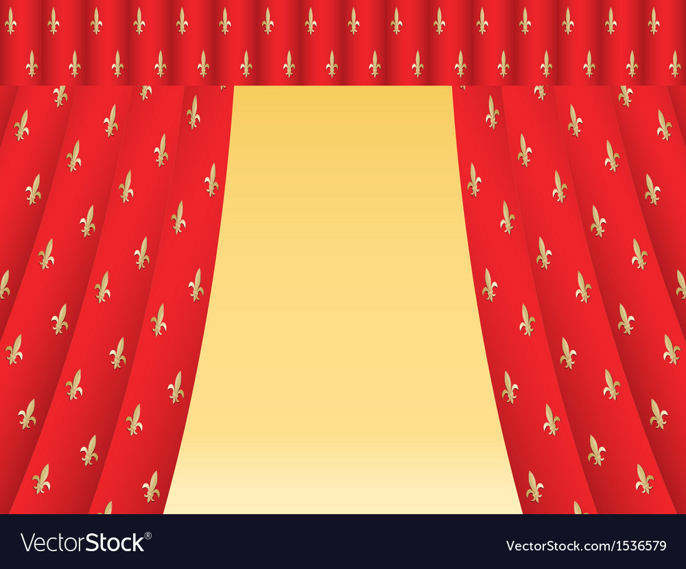 Red theatre curtain vector | Price: 1 Credit (USD $1)