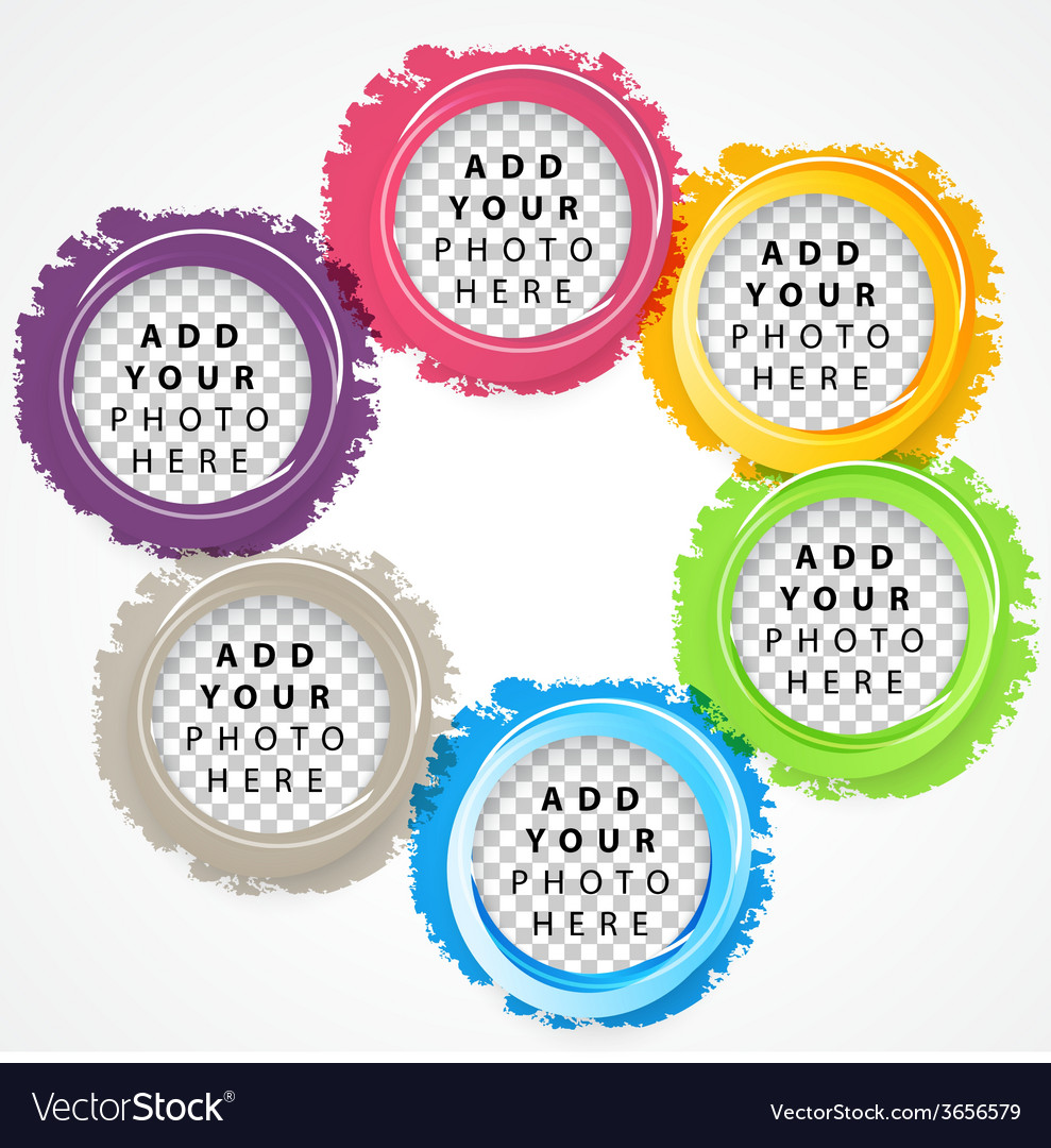 Set of color circles vector | Price: 1 Credit (USD $1)