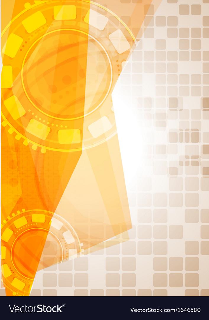 Abstract hi-tech yellow design vector | Price: 1 Credit (USD $1)
