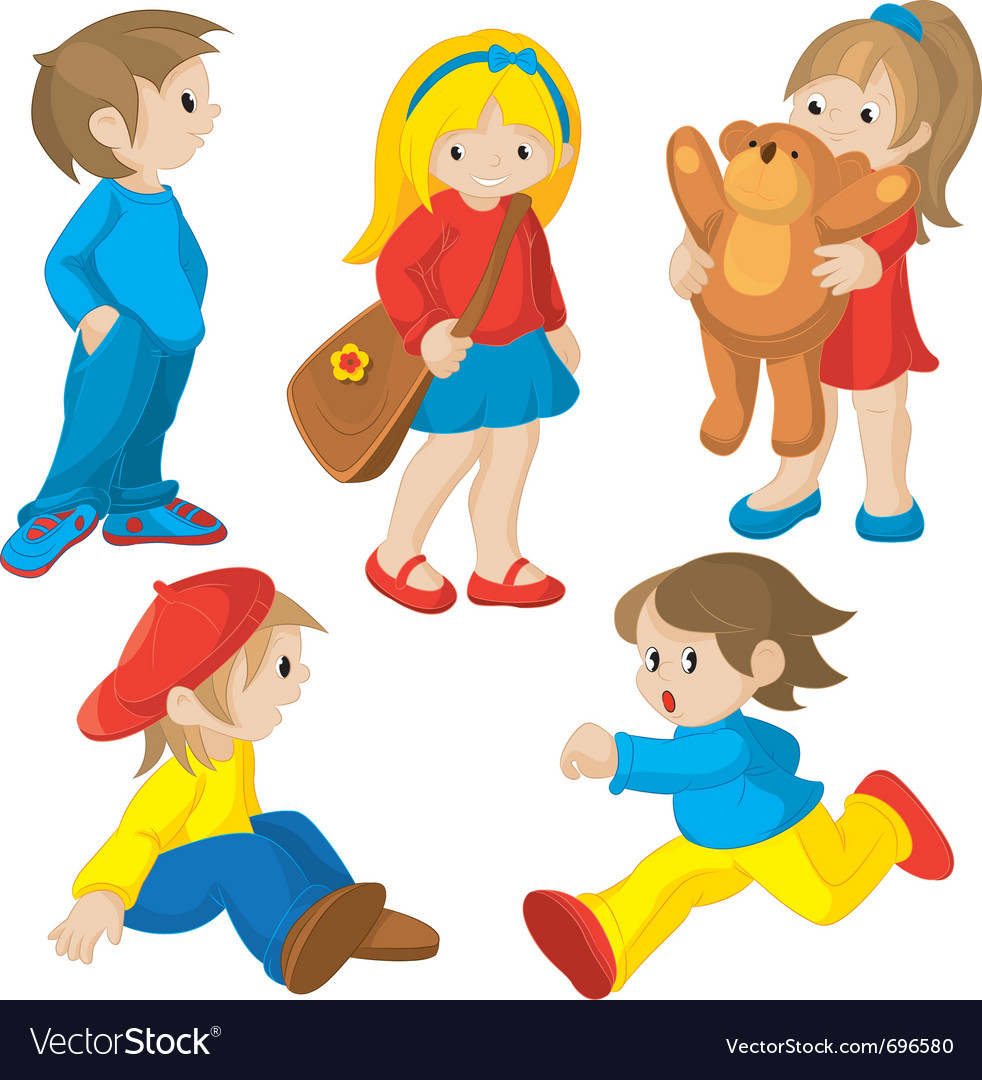 Animated children vector | Price: 3 Credit (USD $3)