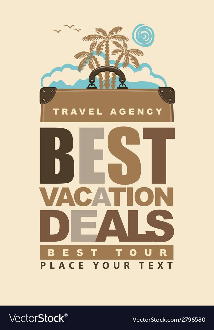 Best vacation deals vector | Price: 1 Credit (USD $1)