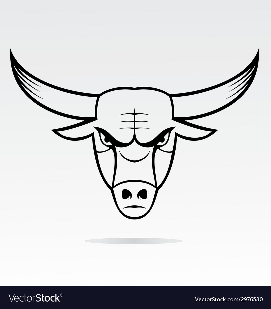 Bulls head mascot vector | Price: 1 Credit (USD $1)