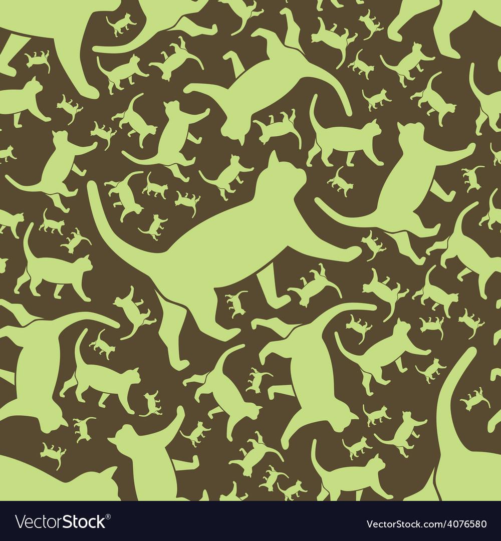 Cat seamless pattern vector | Price: 1 Credit (USD $1)