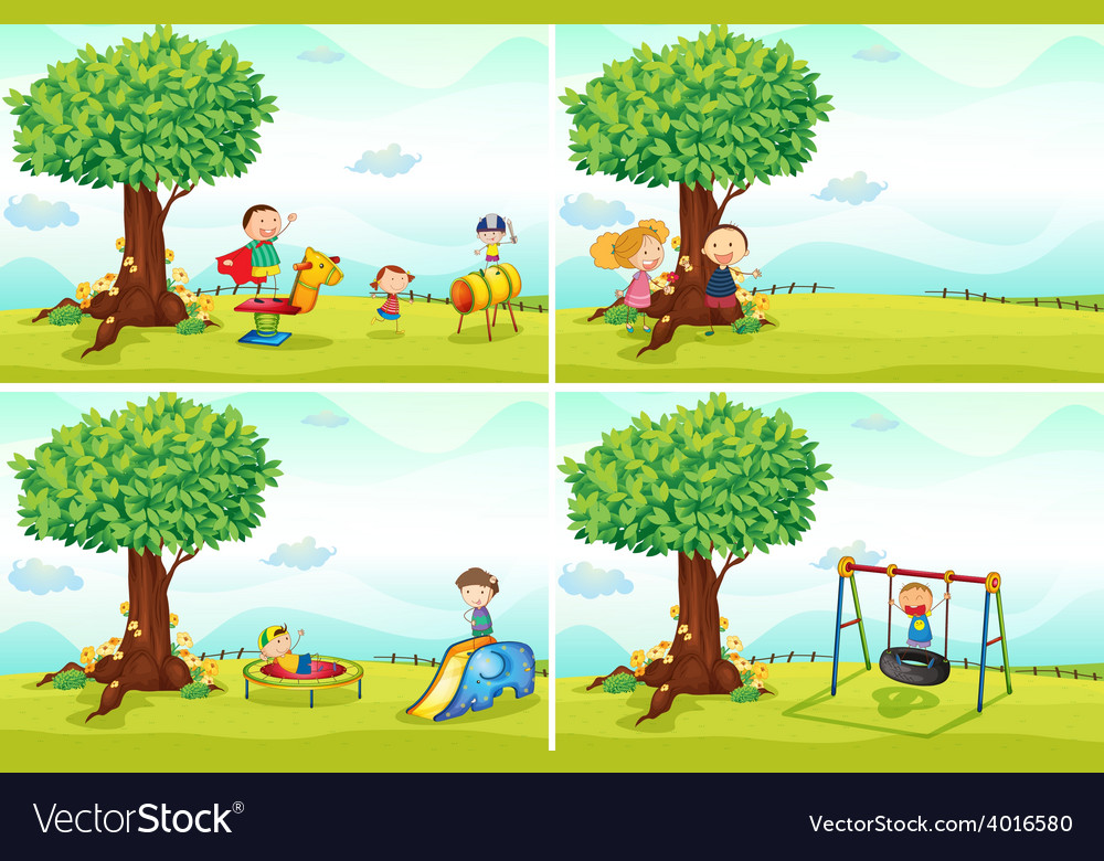 Children and park vector | Price: 3 Credit (USD $3)