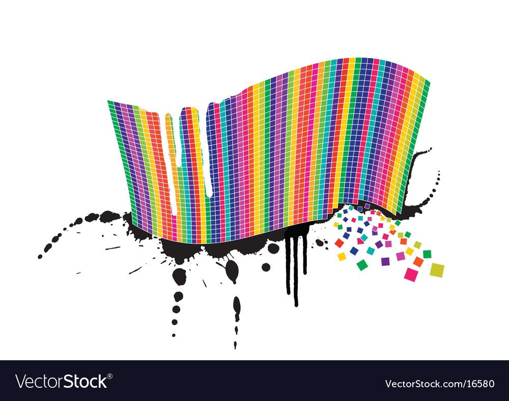Colour squares design vector | Price: 1 Credit (USD $1)