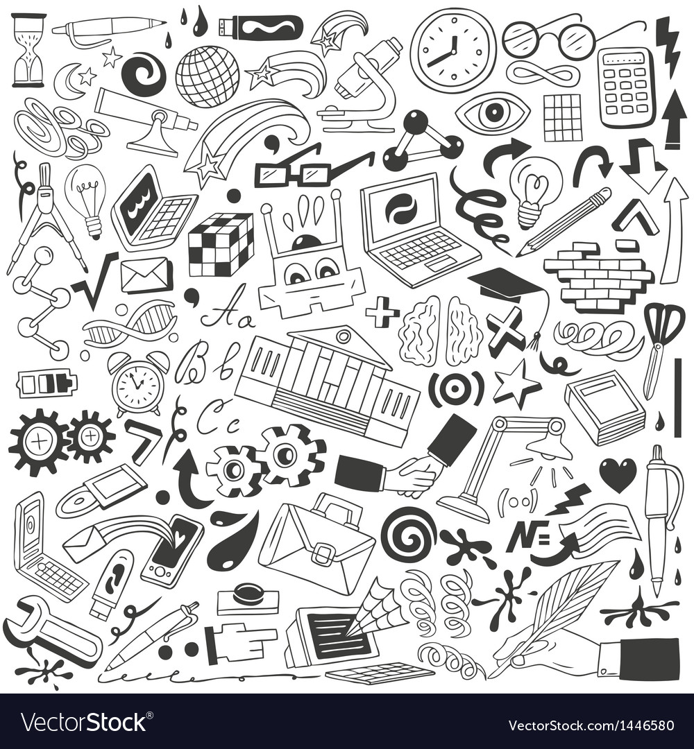 Education doodles vector | Price: 1 Credit (USD $1)