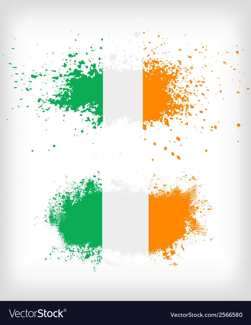 Grunge irish ink splattered flag vector | Price: 1 Credit (USD $1)