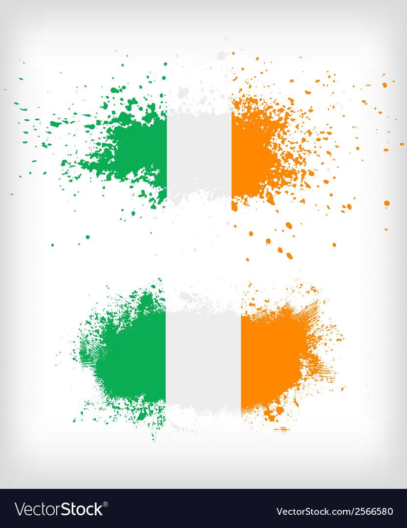 Grunge irish ink splattered flag vector | Price: 1 Credit (USD $1)