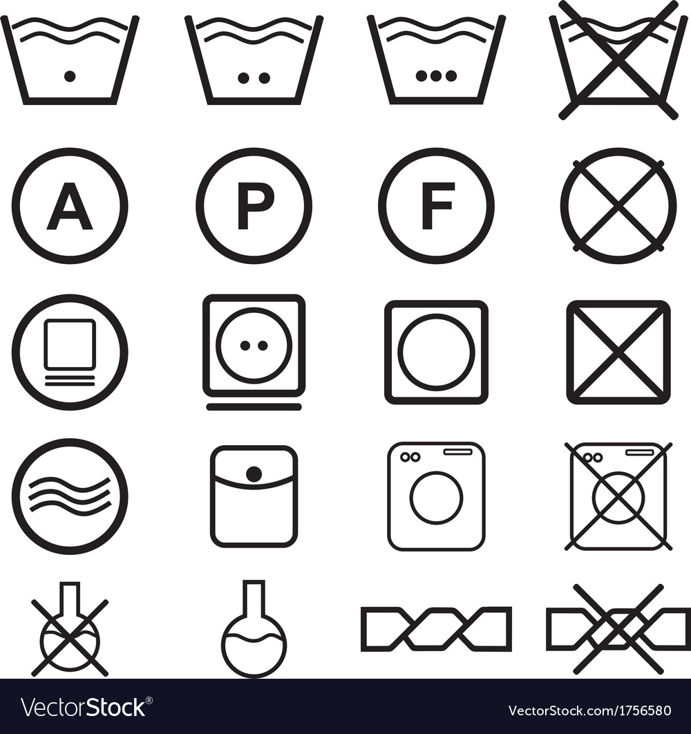 Laundry icons vector | Price: 1 Credit (USD $1)