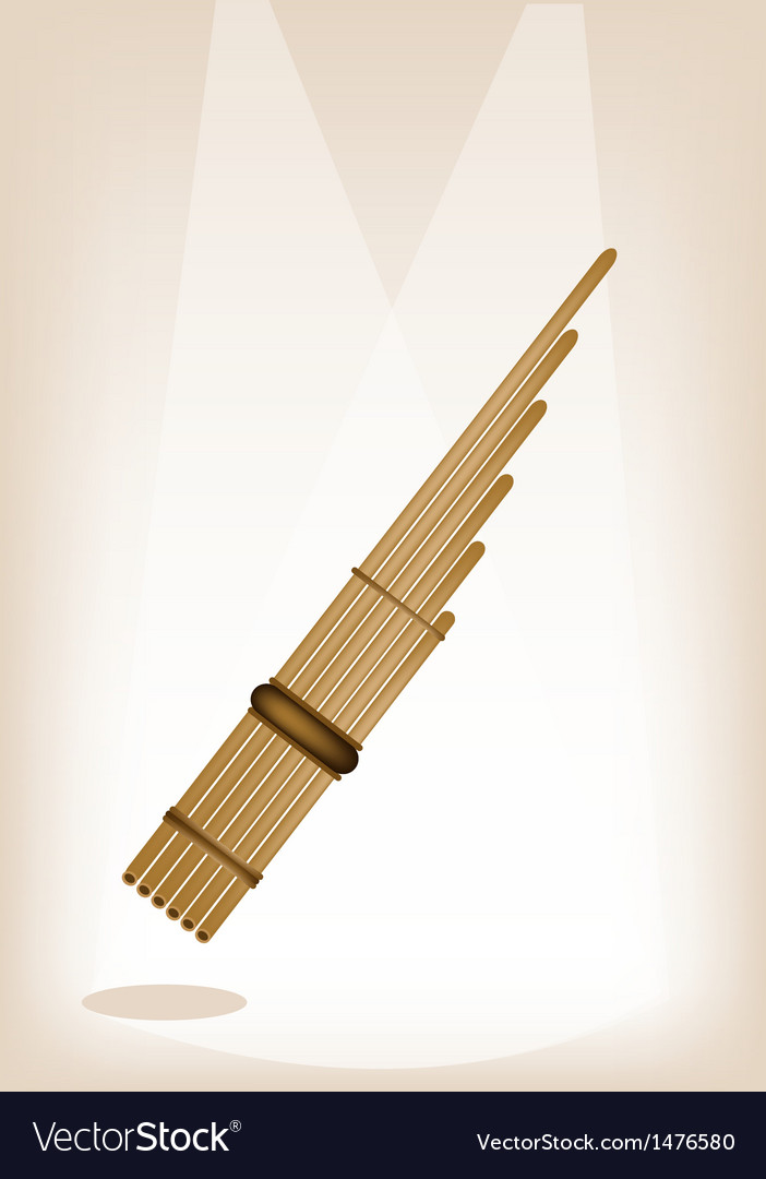 Musical pan flute vector | Price: 1 Credit (USD $1)