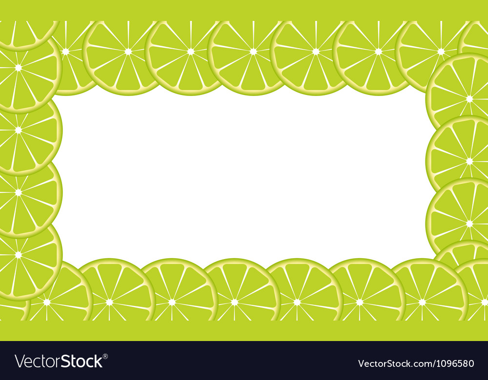 Orange lime frame vector | Price: 1 Credit (USD $1)
