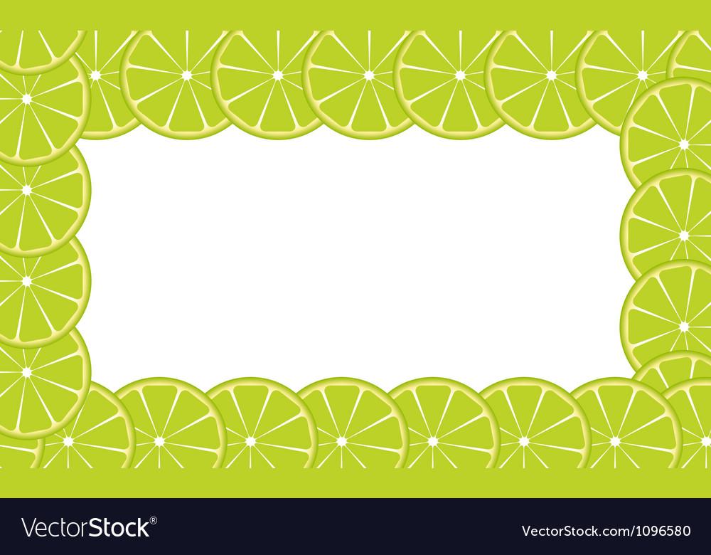 Orange lime frame vector | Price: 1 Credit (USD $1)