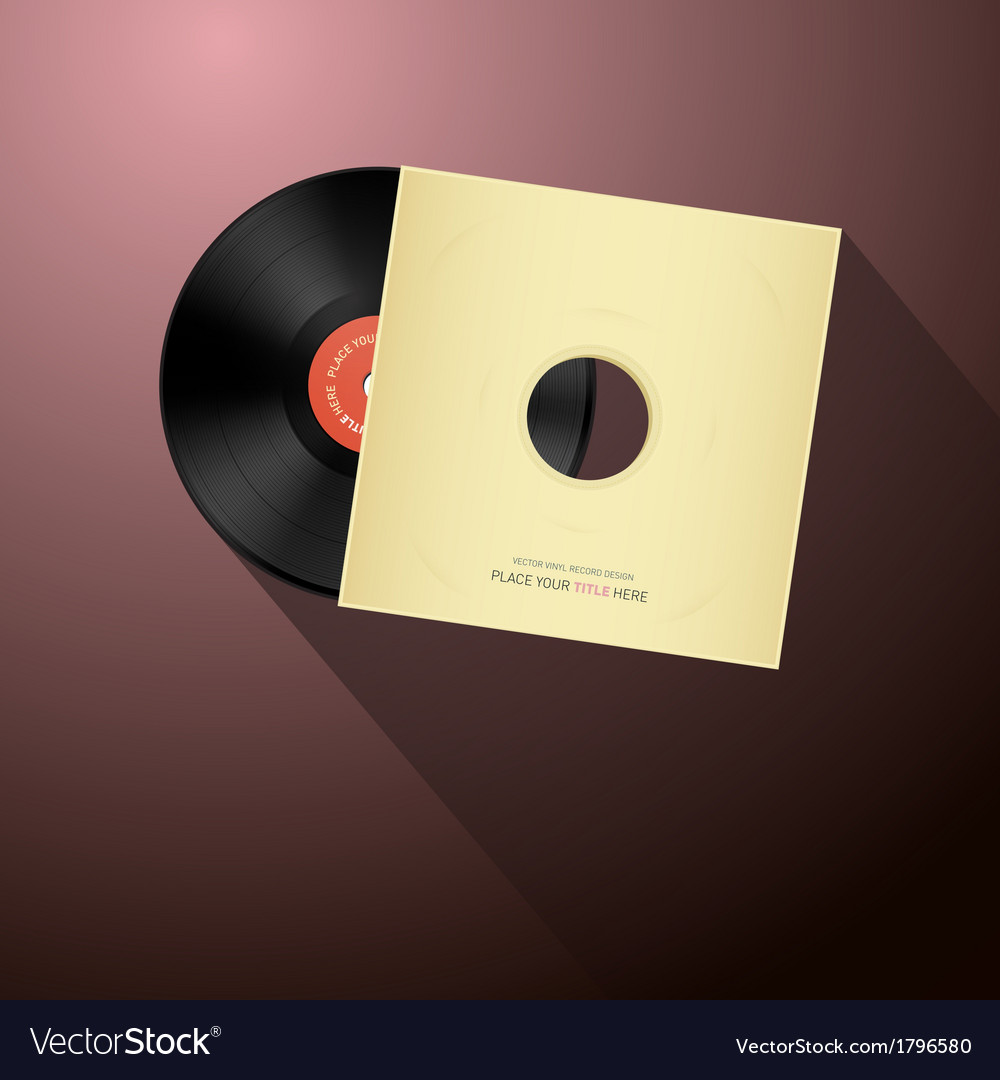 Retro vinyl record disc in paper cover vector | Price: 1 Credit (USD $1)