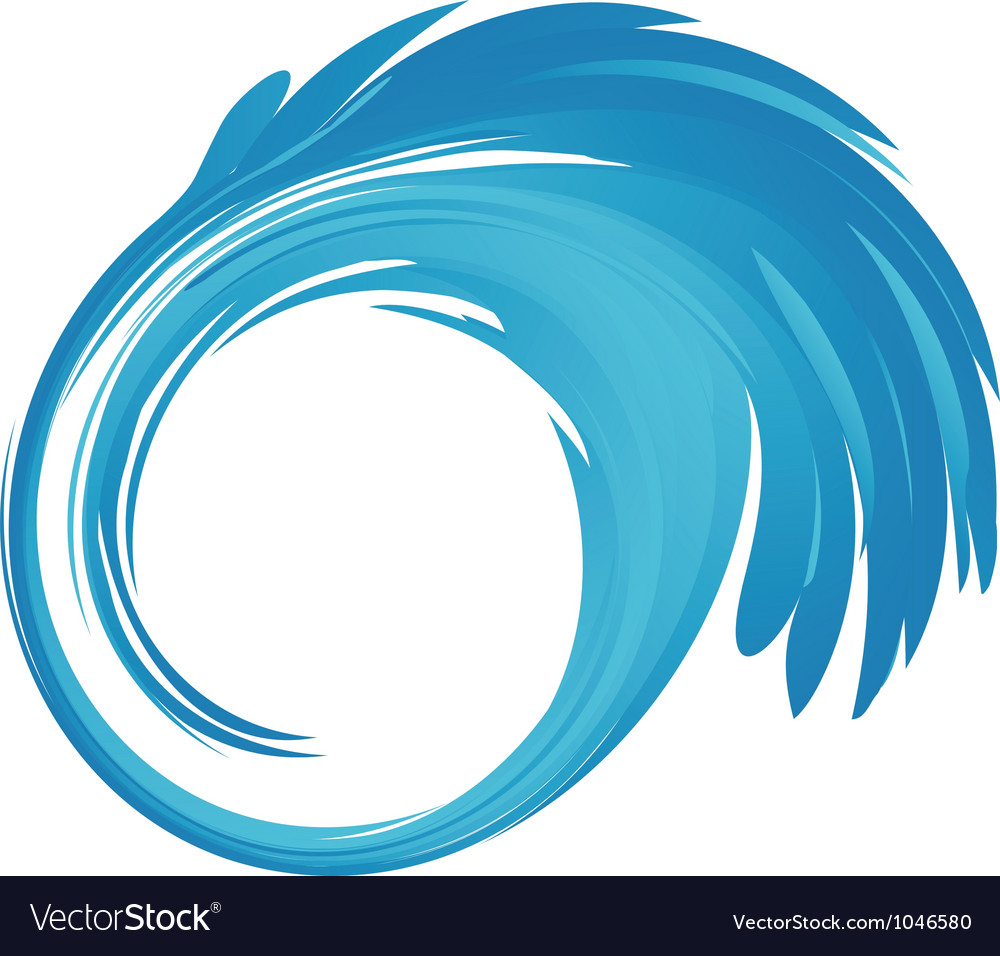 Splash blue water logo vector | Price: 1 Credit (USD $1)