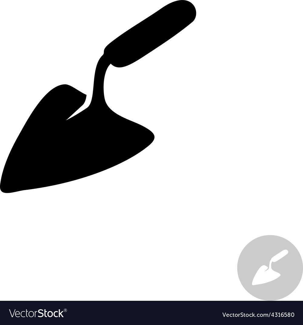 Trowel tool simple black icon vector | Price: 1 Credit (USD $1)
