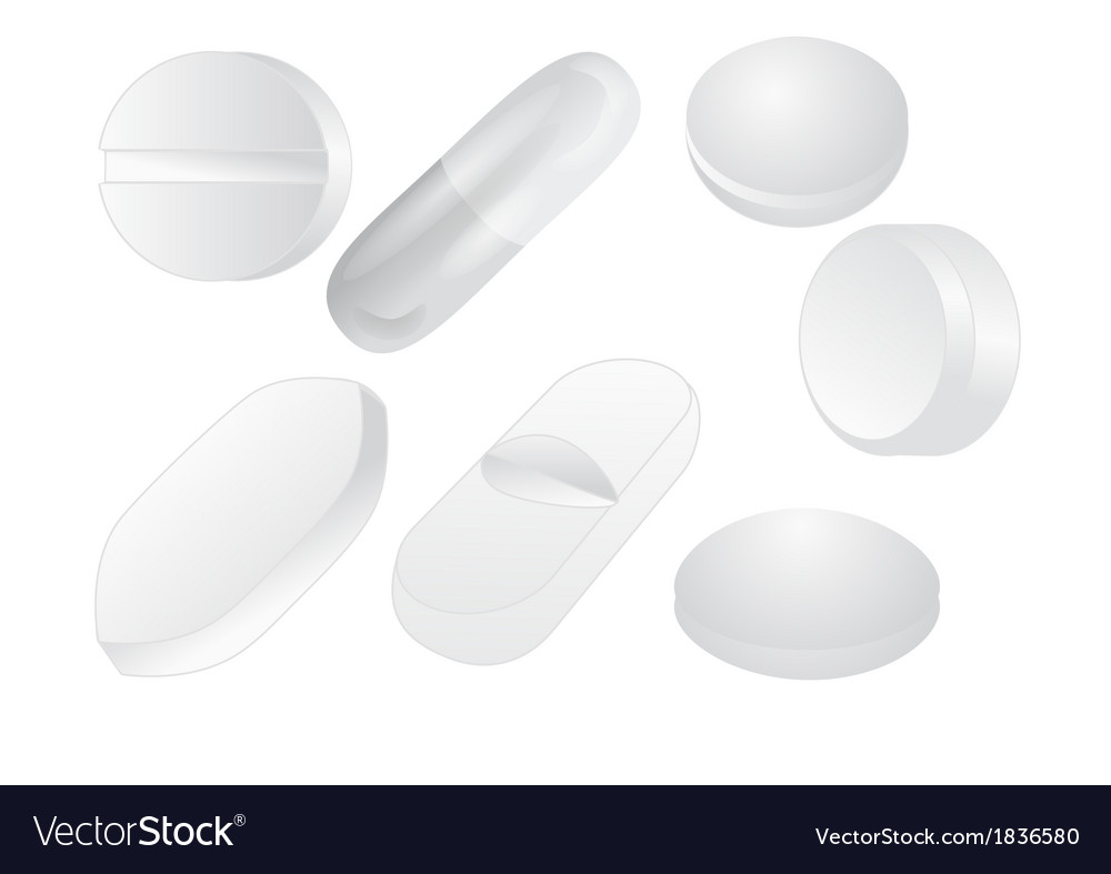 White pills vector | Price: 1 Credit (USD $1)