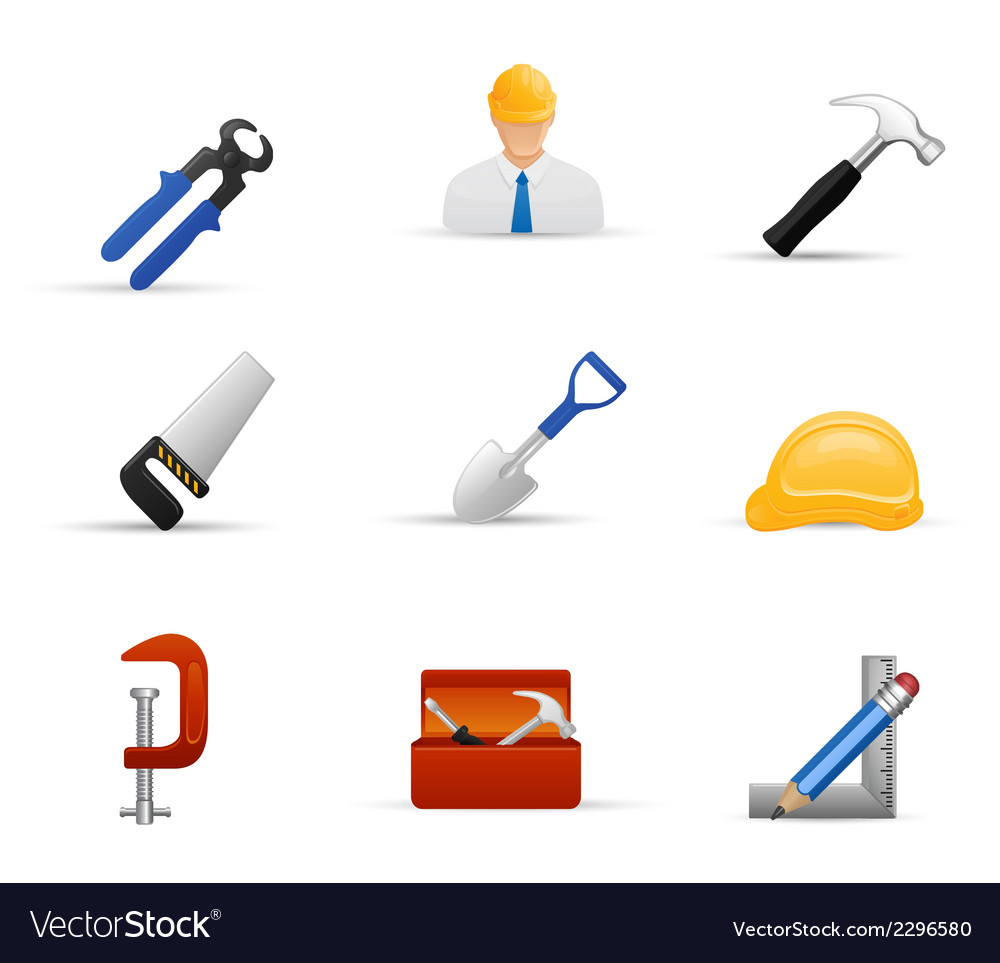 Worker and equipment tool stock vector | Price: 1 Credit (USD $1)