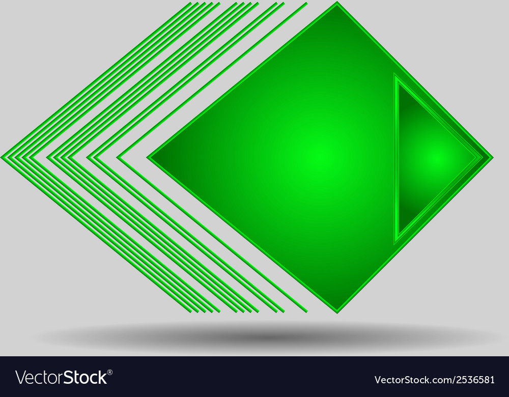 Abstract geometric green triangle pattern vector | Price: 1 Credit (USD $1)