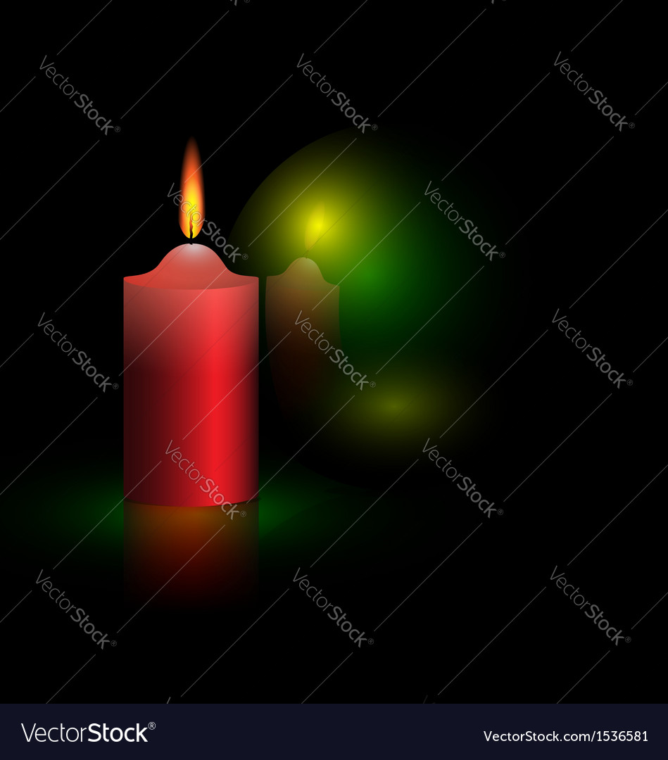 Candle and green ball vector | Price: 1 Credit (USD $1)