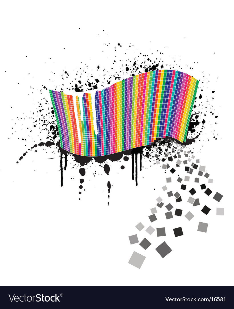 Colour squares vector | Price: 1 Credit (USD $1)