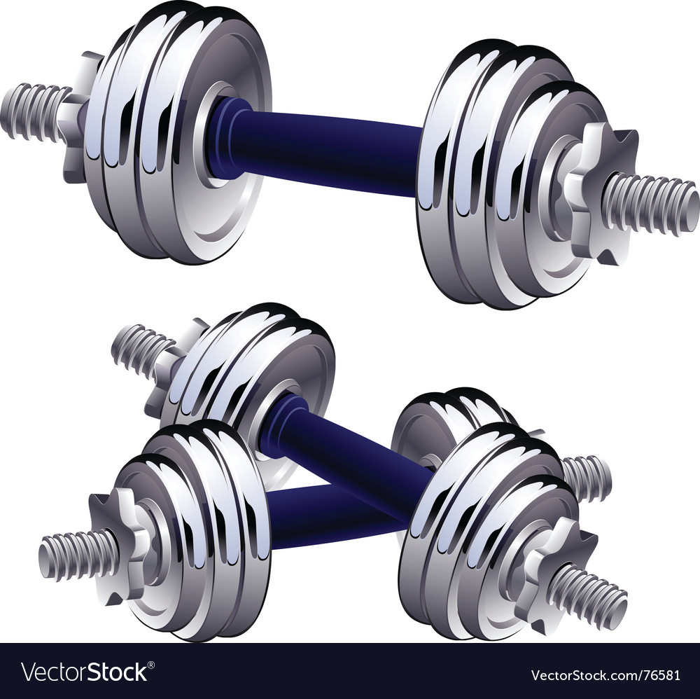 Dumbbells vector | Price: 3 Credit (USD $3)