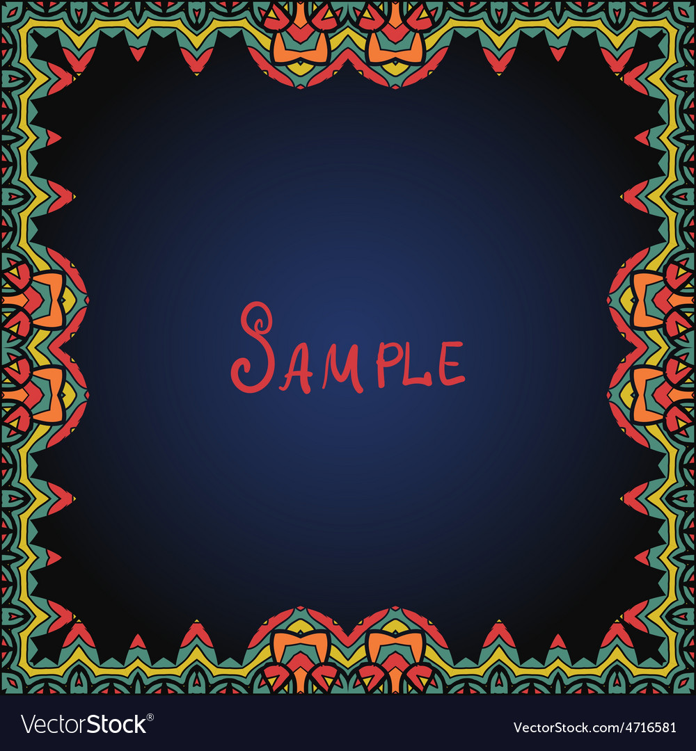 Frame border in red and green color vector   Price: 1 Credit (USD $1)