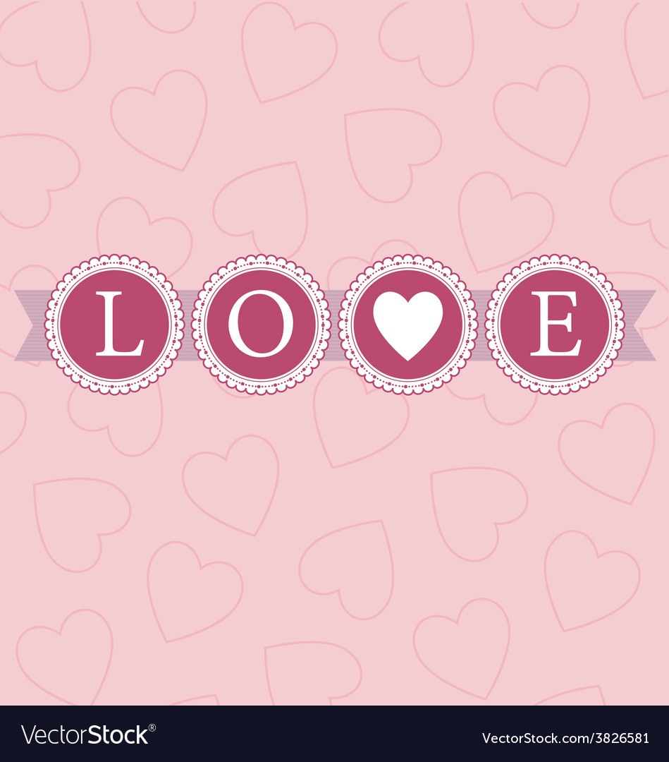 Love word circles pastel vector | Price: 1 Credit (USD $1)
