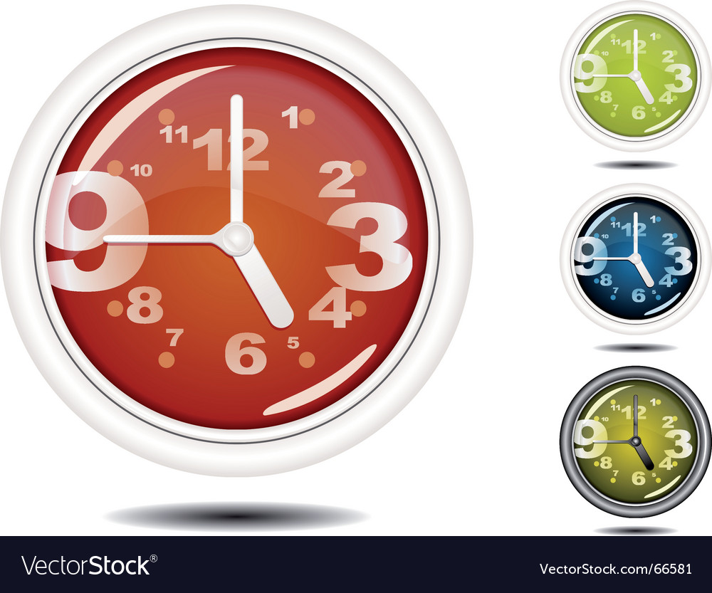 Office wall clock vector | Price: 1 Credit (USD $1)