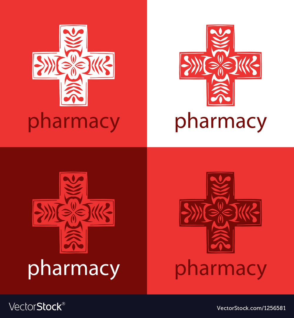 Red medicine logo vector | Price: 1 Credit (USD $1)