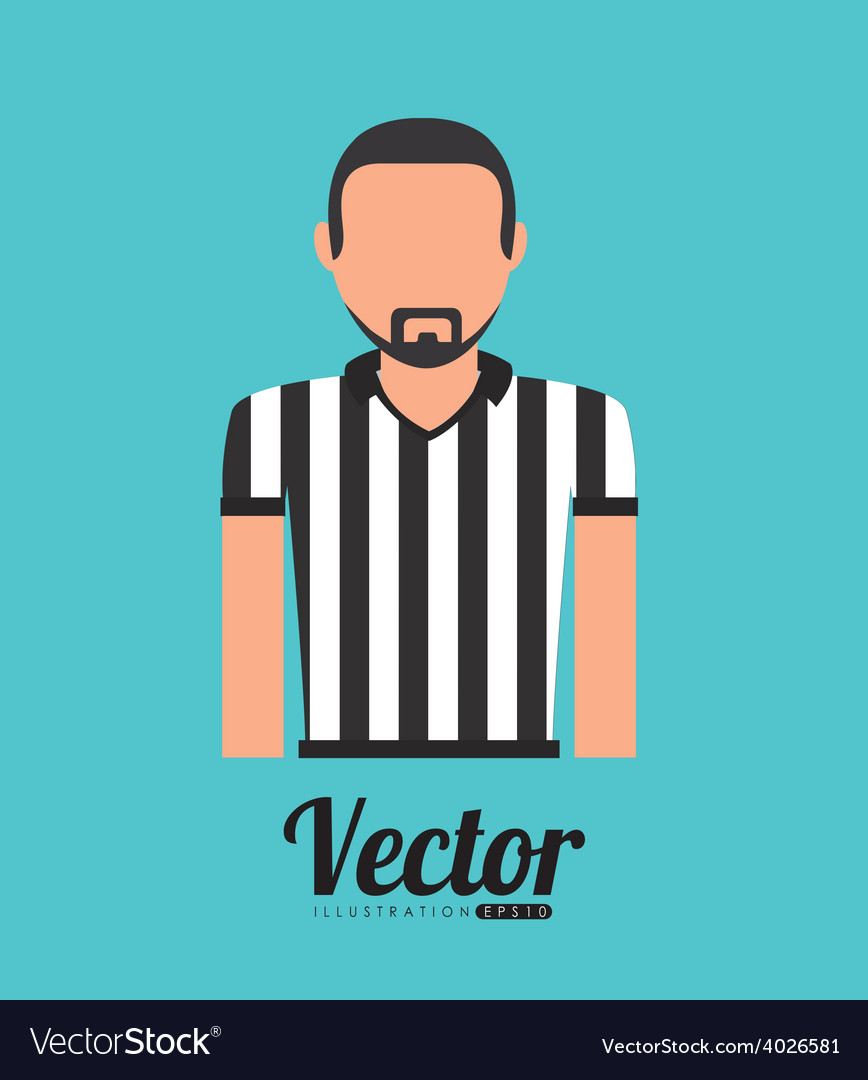 Referee shirt vector | Price: 1 Credit (USD $1)