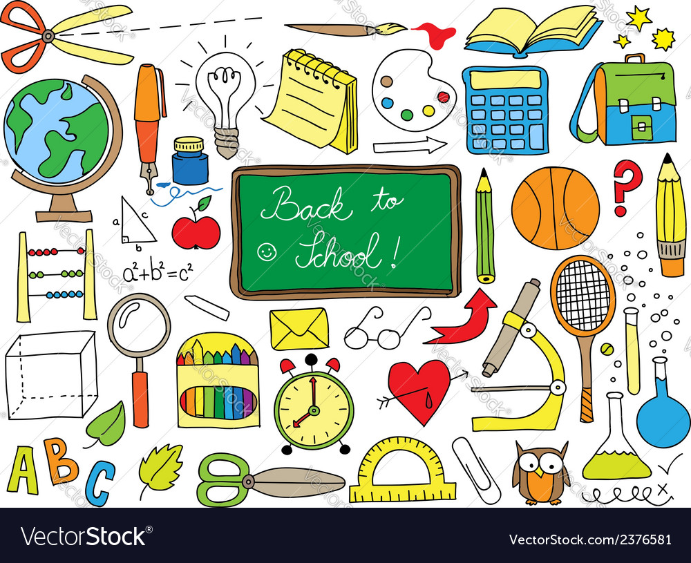 School doodle vector | Price: 1 Credit (USD $1)