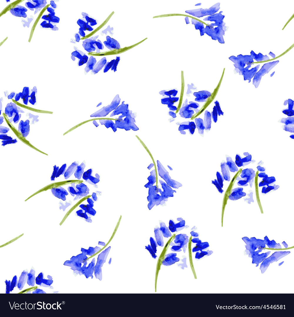 Sketch watercolor flowers in vintage style vector | Price: 1 Credit (USD $1)