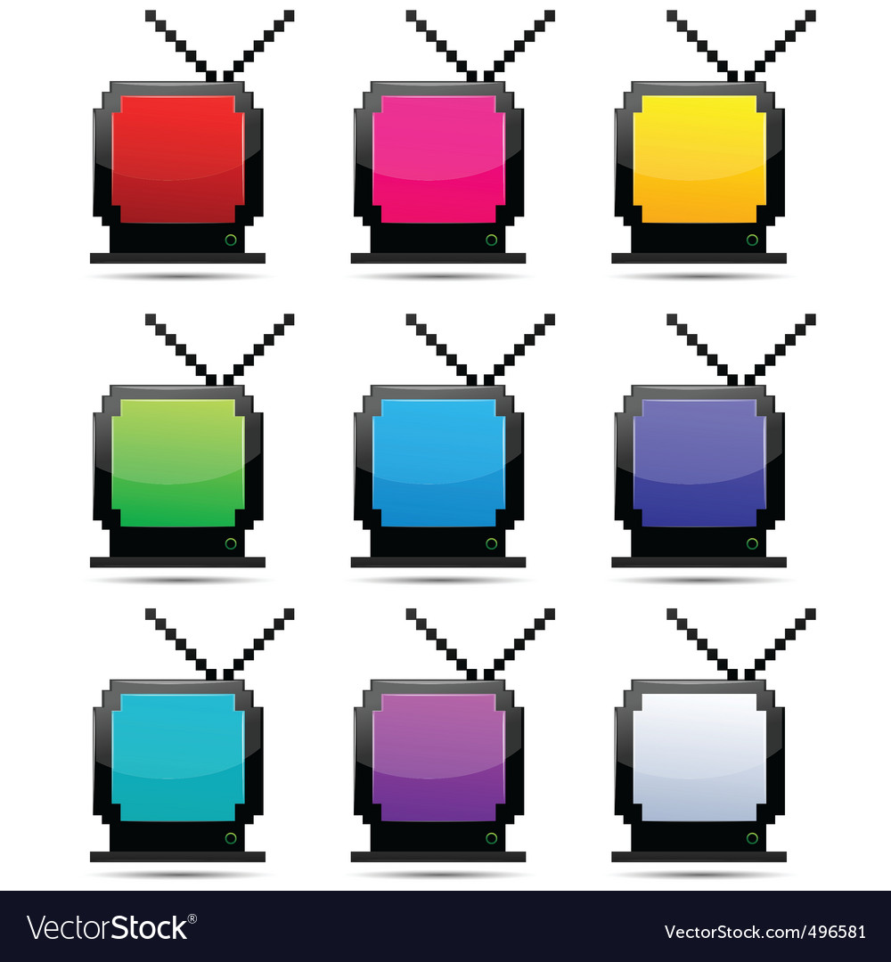 Tv sets vector | Price: 1 Credit (USD $1)