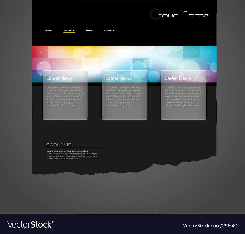 Website template with circles vector | Price: 1 Credit (USD $1)