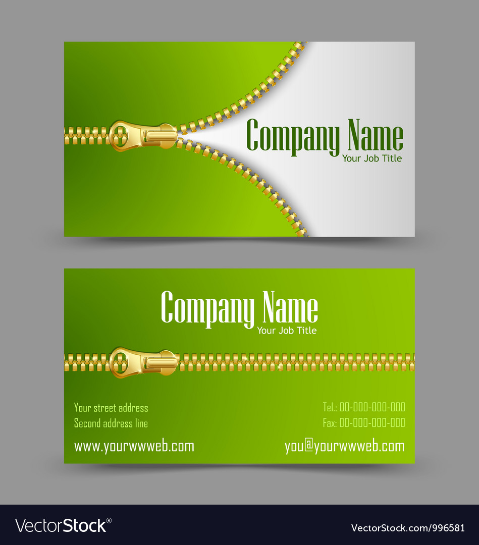 Zipper theme business card vector   Price: 1 Credit (USD $1)