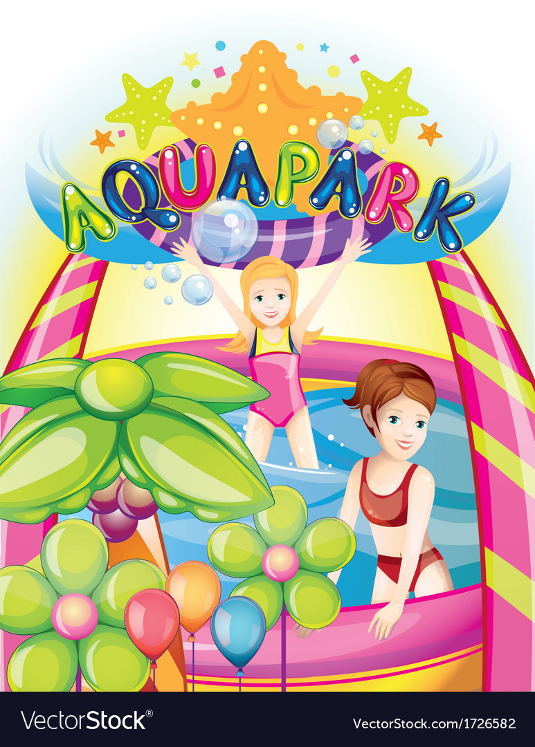 Aqua park vector | Price: 3 Credit (USD $3)