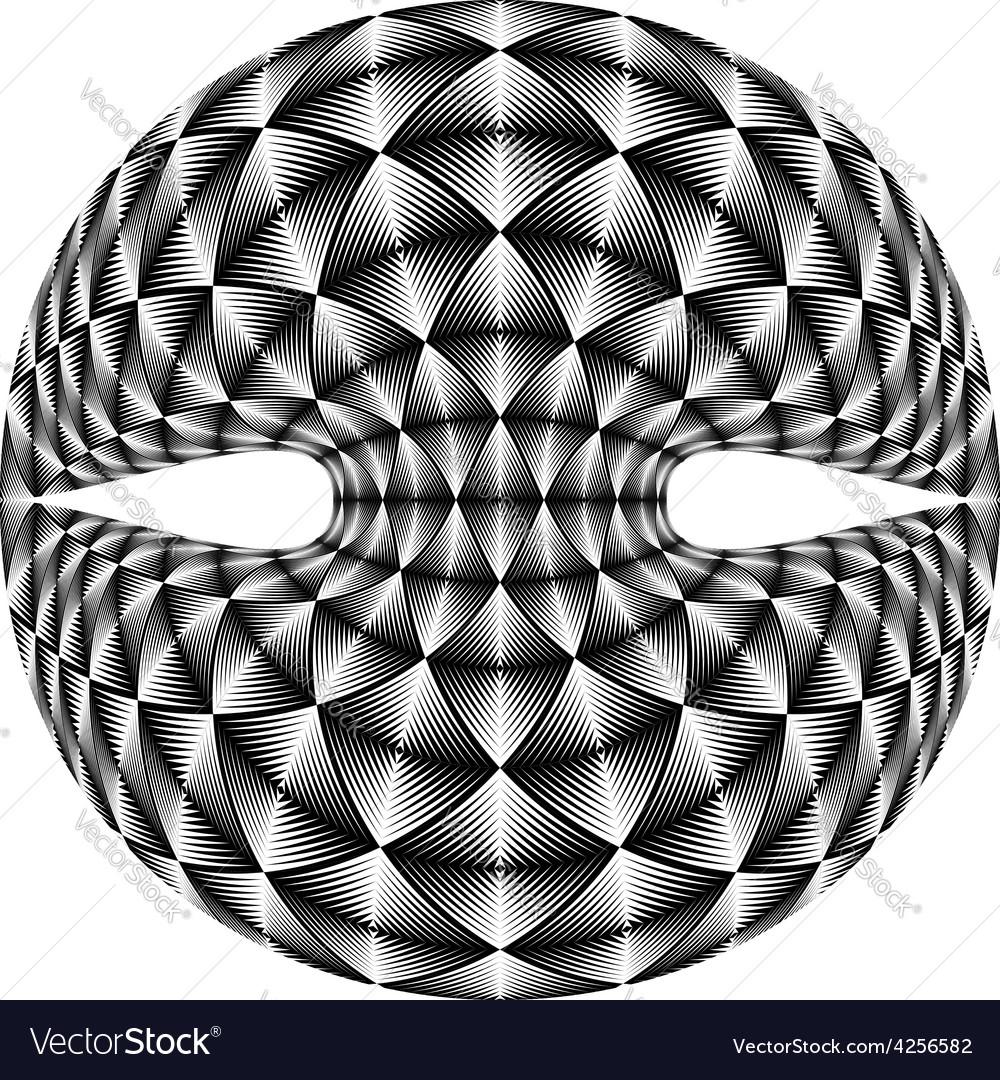 Design warped diamond trellised backdrop vector | Price: 1 Credit (USD $1)