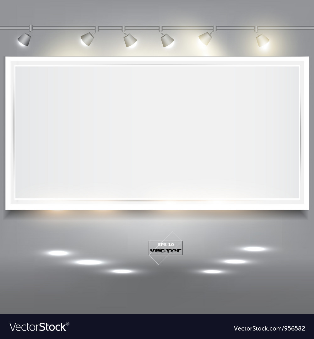 Empty white banner for product advertising with vector | Price: 1 Credit (USD $1)