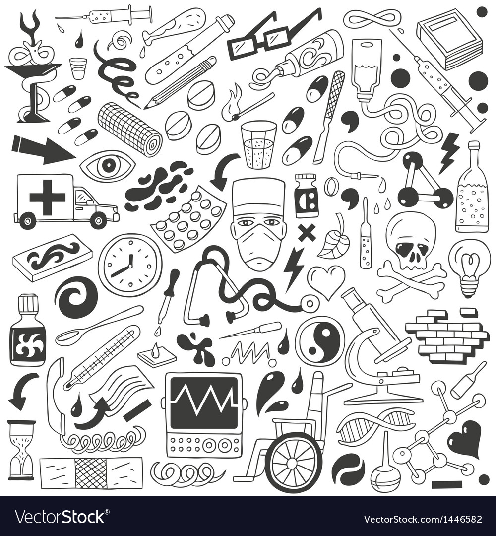 Medicine - doodles collection vector | Price: 1 Credit (USD $1)