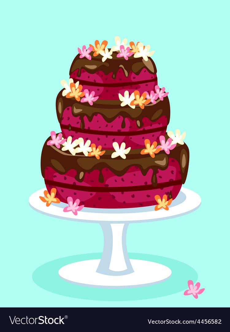 Red velvet cake card vector | Price: 1 Credit (USD $1)